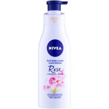 Nivea Rose & Argan Oil lotiune de corp cu ulei  200 ml