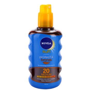 Nivea Sun Protect & Bronze óleo seco solar SPF 20 1