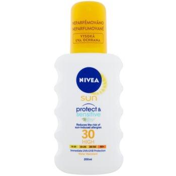 Nivea Sun Pure & Sensitive спрей за загар  SPF 30