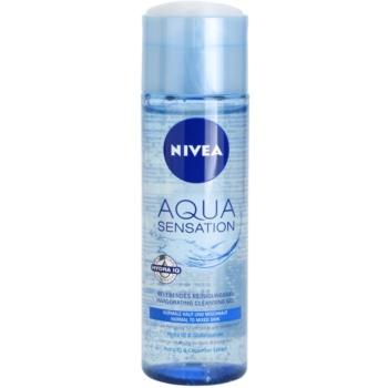 Nivea Visage Aqua Sensation gel de curatare pentru piele normala si mixta