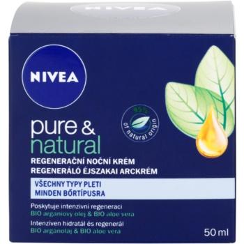 Nivea Visage Pure & Natural regenerujący krem na noc do wszystkich rodzajów skóry 4