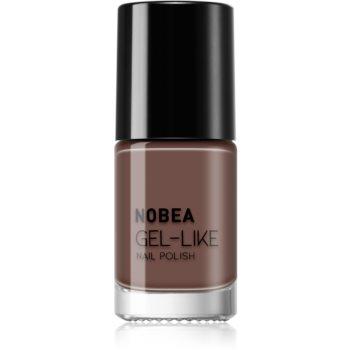 NOBEA Day-to-Day Nagellack mit Geleffekt Farbton Dark Mocha #N06 6 ml