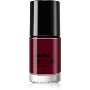 NOBEA Day-to-Day Nagellack mit Geleffekt Farbton Dark Cherry #N09 6 ml