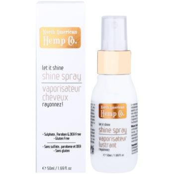 North American Hemp Co. Let it Shine óleo em spray para cabelo brilhante e macio 1