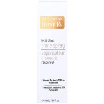 North American Hemp Co. Let it Shine óleo em spray para cabelo brilhante e macio 2