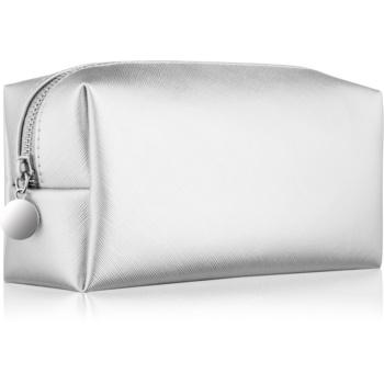 Notino Basic geantă de cosmetice pentru femei, mică argint (21 × 9 × 7 cm)