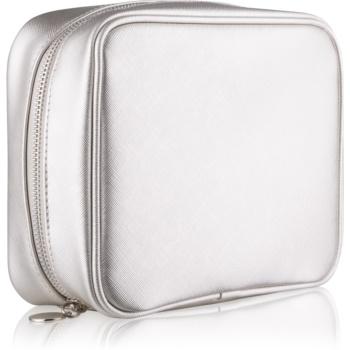 Notino Basic geantă de cosmetice pentru femei, de voiaj argint (21 × 6,5 × 16,5 cm)