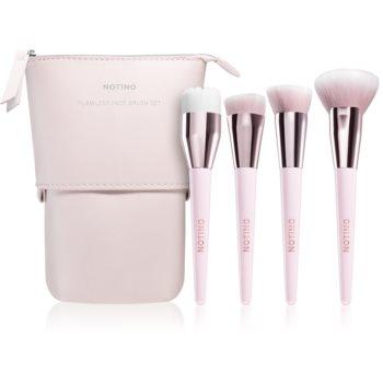 Notino Glamour Collection Flawless Face Brush Set set de pensule cu geantã imagine produs