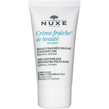 Nuxe Creme Fraîche de Beauté máscara hidratante e apaziguadora  para todos os tipos de pele