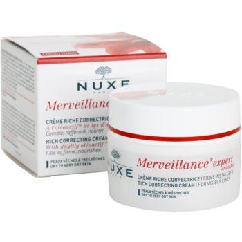 Nuxe Merveillance krem przeciwzmarszczkowy do skóry suchej i bardzo suchej 3