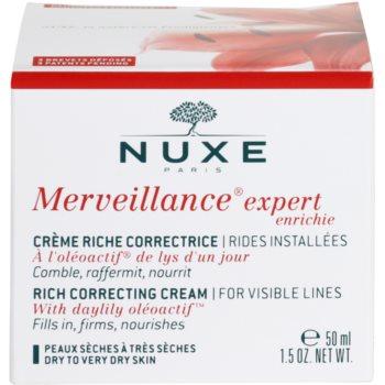 Nuxe Merveillance krem przeciwzmarszczkowy do skóry suchej i bardzo suchej 4