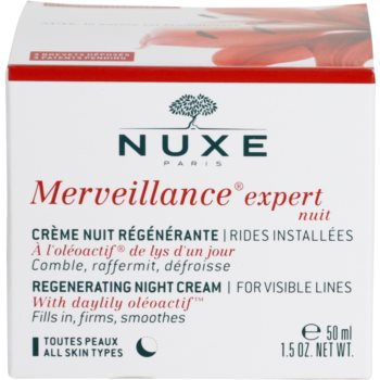 Nuxe Merveillance відновлюючий нічний крем для всіх типів шкіри 4