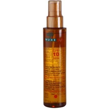 Fotografie Nuxe Sun opalovací olej na obličej a tělo SPF 10 150 ml