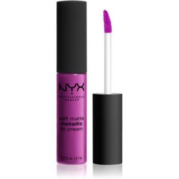 NYX Professional Makeup Soft Matte Metallic Lip Cream ruj de buze lichid cu finisaj metalic mat imagine produs