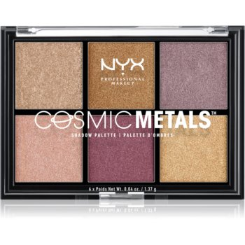 NYX Professional Makeup Cosmic Metals™ paletã cu farduri de ochi imagine produs