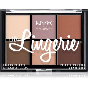 NYX Professional Makeup Lid Lingerie paletã cu 6 farduri în degrade imagine produs
