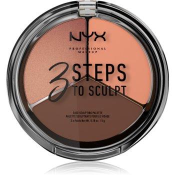 NYX Professional Makeup 3 Steps To Sculpt Patela pentru conturul fetei imagine produs