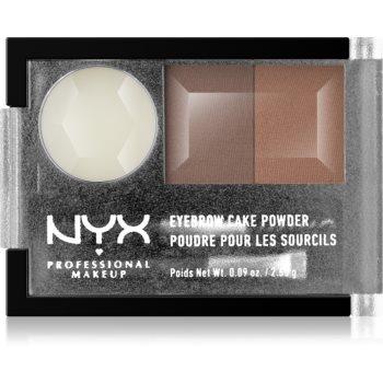 NYX Professional Makeup Eyebrow Cake Powder set pentru aranjarea sprâncenelor poza noua