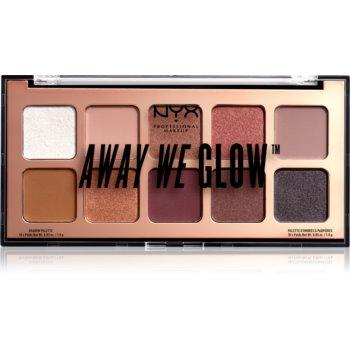 NYX Professional Makeup Away We Glow paletã cu farduri de ochi imagine produs