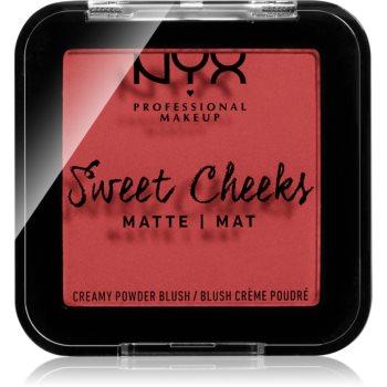 NYX Professional Makeup Sweet Cheeks Blush Matte tvářenka odstín CITRINE ROSE 5 g