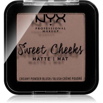 NYX Professional Makeup Sweet Cheeks Blush Matte tvářenka odstín SO TAUPE 5 g
