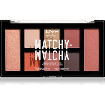 NYX Professional Makeup Matchy-Matchy paletă cu farduri de ochi