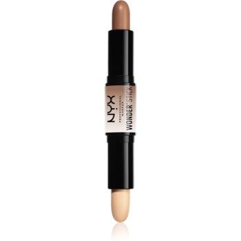 NYX Professional Makeup Wonder Stick oboustranná konturovací tyčinka odstín 01 Light 2 x 4 g