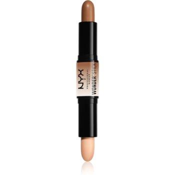 NYX Professional Makeup Wonder Stick oboustranná konturovací tyčinka odstín 02 Medium 2 x 4 g
