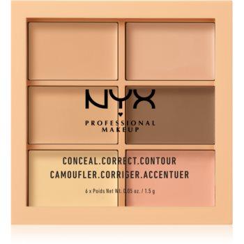 NYX Professional Makeup Conceal. Correct. Contour paletã de contur ?i corectare imagine produs
