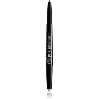 NYX Professional Makeup Sculpt & Highlight creion dermatograf cu două capete