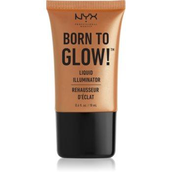 NYX Professional Makeup Born To Glow tekutý rozjasňovač odstín 03 Pure Gold 18 ml
