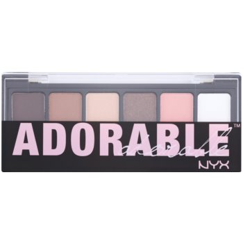 NYX Professional Makeup The Adorable палетка тіней з аплікатором 1