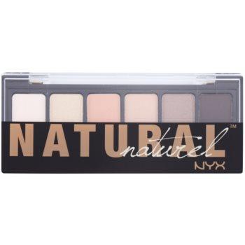 NYX Professional Makeup The Natural палитра от сенки за очи с апликатор 1