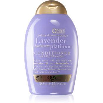 OGX Lavender Platinum balsam nuan?ator pentru nuante inchise de blond imagine