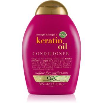 OGX Keratin Oil balsam pentru indreptare cu keratina si ulei de argan imagine