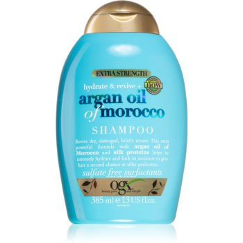 OGX Argan Oil Of Morocco Extra Strenght sampon reparator pentru par fragil foarte deteriorat imagine produs