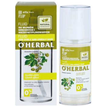 O'Herbal Humulus Lupulus флюїд для неслухняного та кучерявого волосся 2
