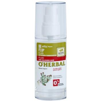 O'Herbal Thymus Vulgaris зволожуючий захисний флюїд для фарбованого волосся