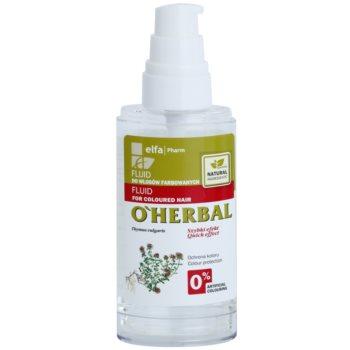O'Herbal Thymus Vulgaris зволожуючий захисний флюїд для фарбованого волосся 1