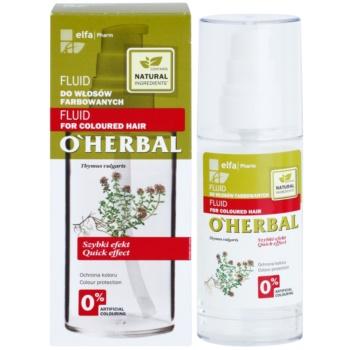 O'Herbal Thymus Vulgaris зволожуючий захисний флюїд для фарбованого волосся 2