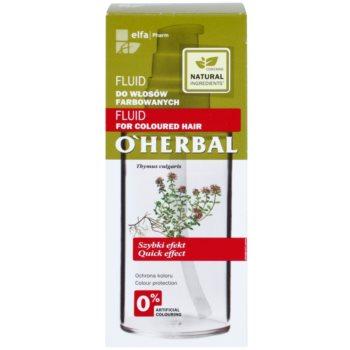 O'Herbal Thymus Vulgaris зволожуючий захисний флюїд для фарбованого волосся 3