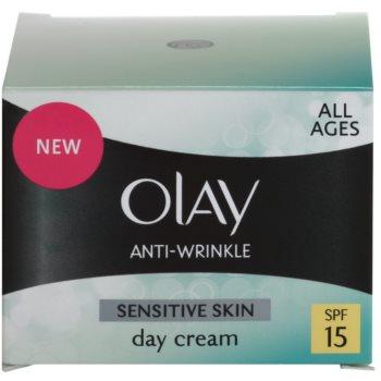 Olay Anti-Wrinkle Sensitive Skin дневен крем  против стареене на кожата 4
