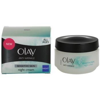 Olay Anti-Wrinkle Sensitive Skin nočna krema proti staranju kože 2