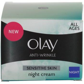 Olay Anti-Wrinkle Sensitive Skin nočna krema proti staranju kože 4