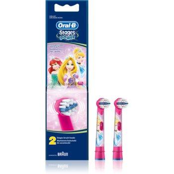 Oral B Stages Power EB10 Princess náhradní hlavice pro zubní kartáček extra soft 2 ks