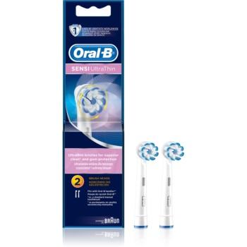 Oral B Sensitive UltraThin EB 60 capete de schimb pentru periuta de dinti 2 pc poza noua