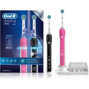 Oral B Smart 4 4900 DUO D601.525.3H elektrische Zahnbürste  + Ersatzhalterung