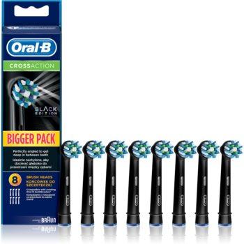 Oral B Cross Action EB 50 Black capete de schimb pentru periuta de dinti 8 bucati poza noua