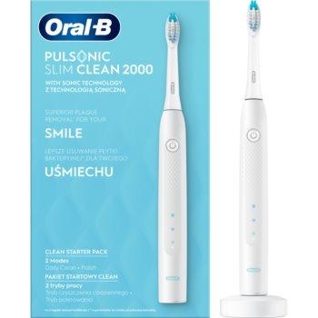 Oral B Pulsonic Slim Clean 2000 White periuta de dinti electrica sonica