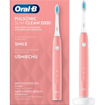 Oral B Pulsonic Slim Clean 2000 Pink periuta de dinti electrica sonica